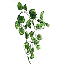 SPORER Reptile Terrarium Aquarium Artificial Plastic Plants Leaves Fruit Vines Green-Fruit cane