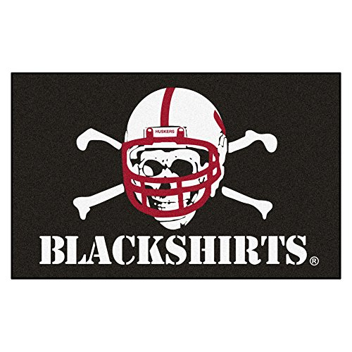 NCAA University of Nebraska - Blackshirts Cornhuskers Ulti-Mat Rectangular Area (Nebraska Cornhuskers Tailgater Mat)