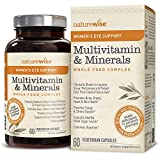 NatureWise Women's Multivitamin Whole Food Complex with Eye Support | Vitamins, Minerals & Organic Whole Foods (⬇ Watch Product Video in Images) + Lutemax 2020 to Protect & Improve Vision | 60 Ct