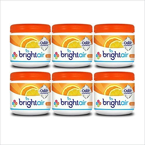 Bright Air Solid Air Freshener and Odor Eliminator, Mandarin Orange and Fresh Lemon Scent, 14 Ounces, (Pack Of 6) (Citrus Eliminator Odor)