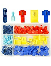 Artrinck 90pcs Quick Splice Solderless Wire and T-Tap Electrical Connector Assortment Kit