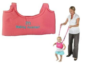 Niño Bebé Infantil ayuda Asistente de Aprendizaje Caminar arnés andador de color caliente rosa