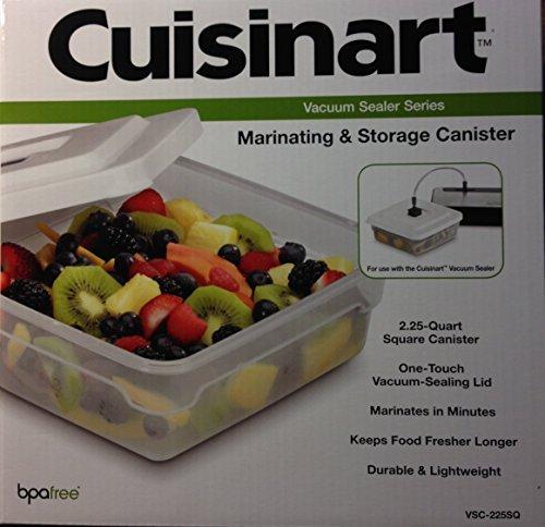 Cuisinart VSC-225SQ Square Marinating and Storage Container for Model VS-100 Vacuum Sealer, 2-1/4-Quart