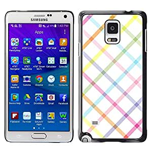 Plastic Shell Protective Case Cover || Samsung Galaxy Note 4 SM-N910 || Clean White Linen @XPTECH