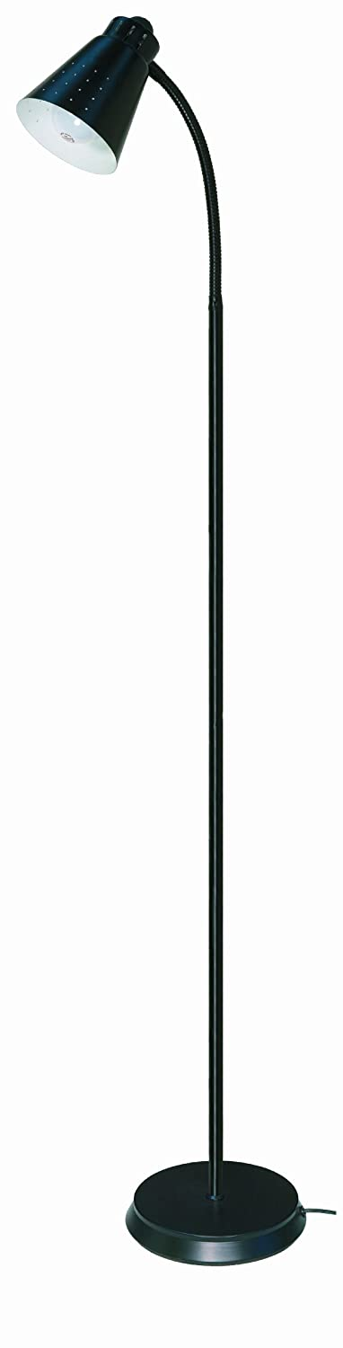 Amazon.com: Satco Products 60/831 Goose Neck Floor Lamp, Brushed ...