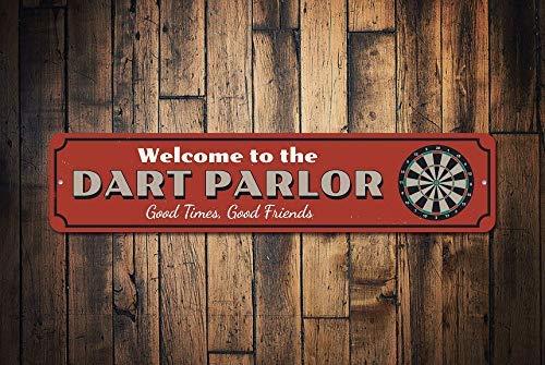 Cartel de Bienvenida de Dart Parlor con Texto en inglés ...