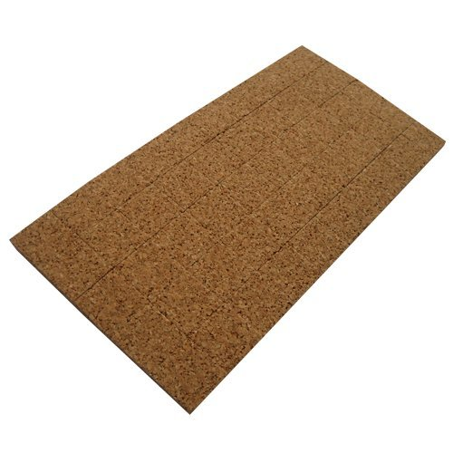 48 Pads Cork(1/16'') And Cling Foam(1/16'') - 1/8'' Thick X 1/2'' Long X 1/2'' Wide X 70 Pieces