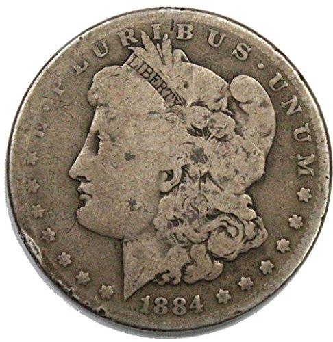 1884 P Morgan Silver Dollar $1 Average Circulated