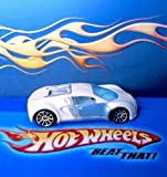 2007 Mystery Car Series Bugatti Veyron Ice White, Loose, Hot Wheels Collectible 1:64 Scale Die Cast Collector...