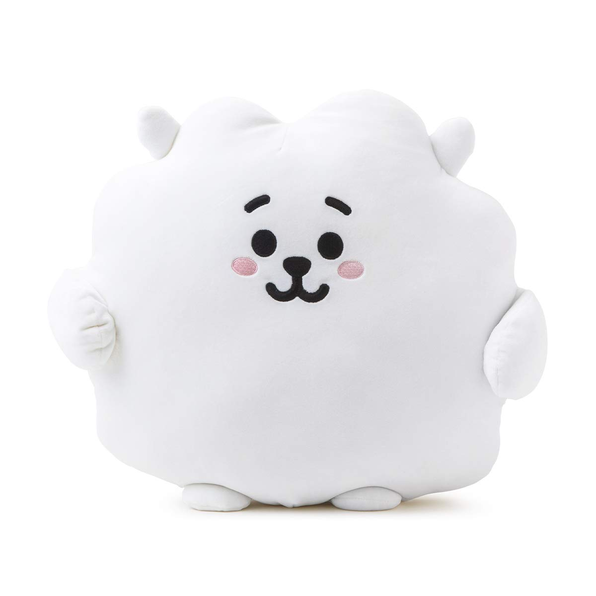 BT21 Official Merchandise by Line Friends - RJ Character Pong Pong Cushion 11.8 Inches