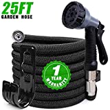Best Coil Garden Hoses - Expandable Garden Hose 25ft, Kink Free Water Hose Review