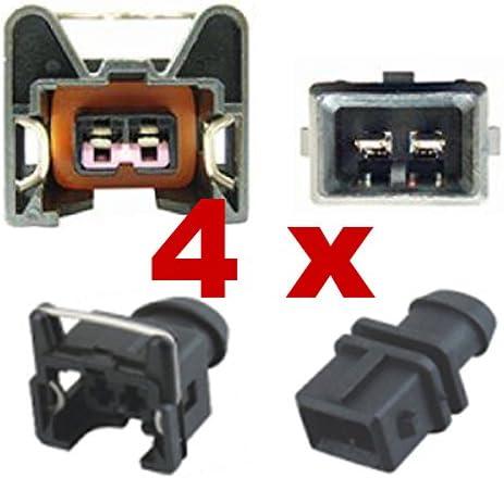 Kfz Ersatz Stecker Einspritzdüse Benziner Bosch Ev1 Short 4 X Set 1287013003 1 287 013 003 Auto