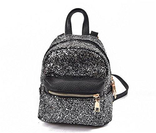 Shoulder Nodykka Handbags Bag Fashion Black Mini Women For Purse Travel Sequin Crossbody Backpack Girls qr4Ear