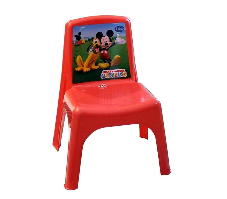 Sedia Bildo Colorata per Bambini in plastica 084113 Mickey Mouse 43x26x24 cm Mediawave Store