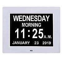 TMC [Newest Version 8 Inch Digital Calendar Day Clock - Extra Large Non-Abbreviated...