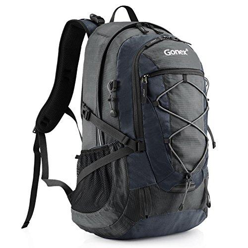 40L Hiking Backpack, Gonex Camping Outdoor Trekking Daypack Waterproof(Dark grey)
