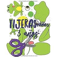 Tijeras Niños 3 Años: Libro de Cortar y Pegar, libro de actividades preescolar, libro recortar niños.