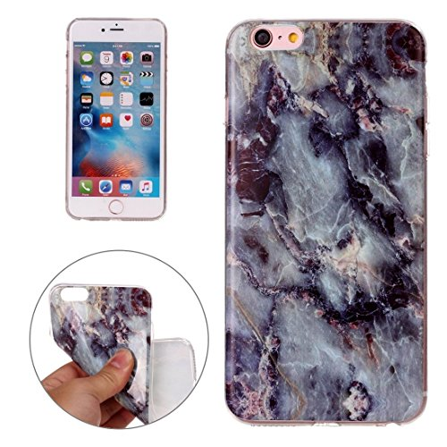 Phone Taschen & Schalen Für iPhone 6 Plus & 6s Plus Schwarzes Marmormuster Soft TPU Schutzhülle ( SKU : Ip6p0927b )