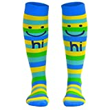 Make Me Smile Compression Socks   Athletic Knee Socks by Gone For a Run   Small