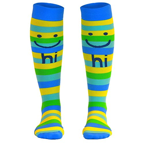 Make Me Smile Compression Socks | Athletic Knee Socks by Gone For a Run| - Glasses Which Me Right For Are