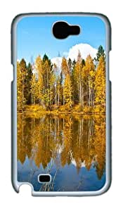Beautiful Autumn Scenery Custom Designer Samsung Galaxy Note 2/Note II / N7100 Case Cover - Polycarbonate - White