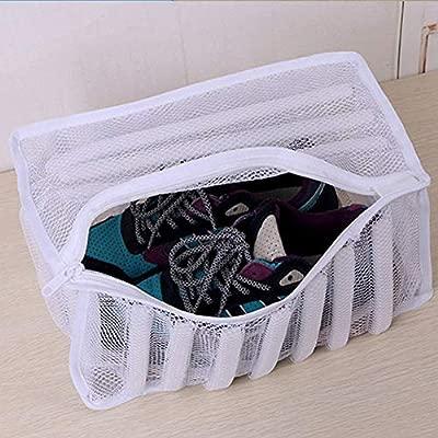 Bolsa de malla para zapatos de lavandería, zapatillas deportivas, bolsa de lavado, calzado, organizador protector para lavadora con cremallera ...