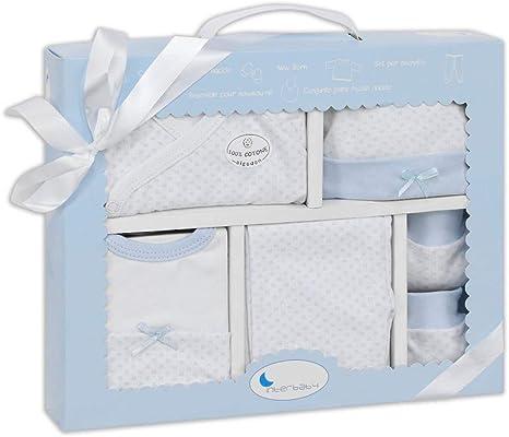 Set Primera Puesta 5 Piezas Azul: Amazon.es: Bebé
