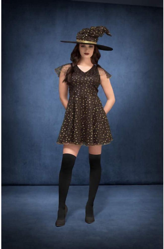 SmiffyS 45131Xs Disfraz De Bruja Fever Con Luna Y Estrellas Con ...