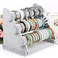 Three Tier Removable Bracelet, Bangles, and Watch Organizer Rack for Women & Girls- Ample Storage Fits 30 to 60 Pieces- Perfect for Home & Store Displays
