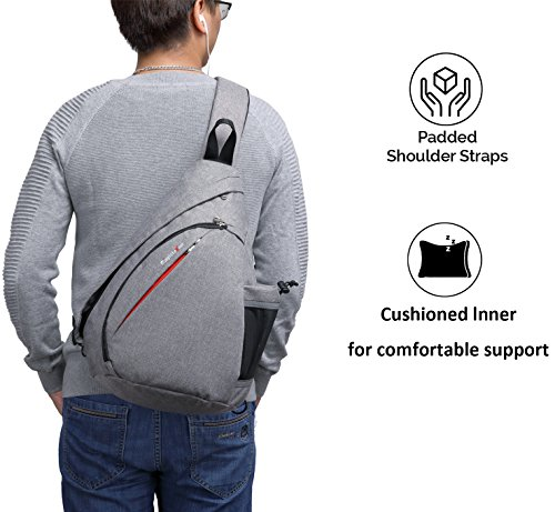 da1ce2964 Magictodoor Sling Bag Travel Backpack Wear Over Shoulder or Crossbody Chest  Bag Grey | 11street Malaysia - Moisturisers