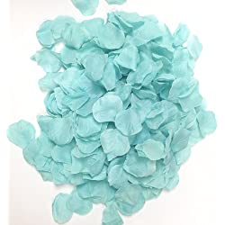 Ben Collection 300 Pieces Silk Rose Petal Wedding Decoration (Aqua)