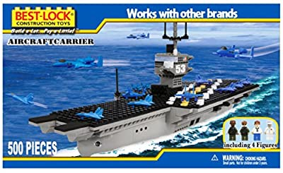 Best Lock U.S. Navy Aircraft Carrier 500 pieces 100% Compatible