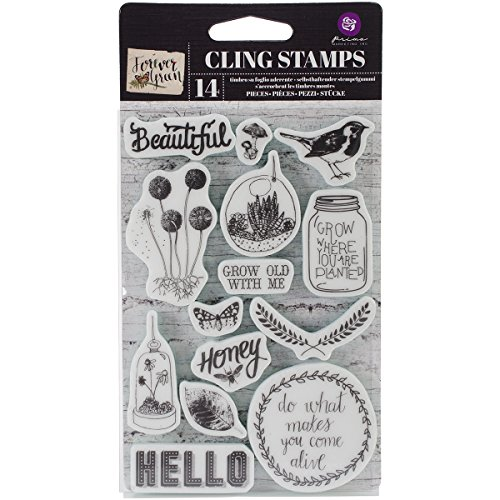Prima Marketing 575755 Forever Green Cling Rubber Stamps, 4-Inch by 6-Inch ()