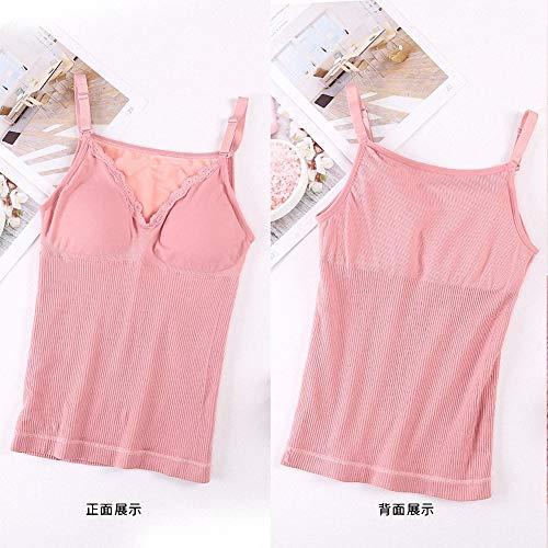 3 Double Yinmume Velours Corps Pink Soudure Plus Chaud Épaississement Gilet Couche Sans Haut Femme UUx7R1