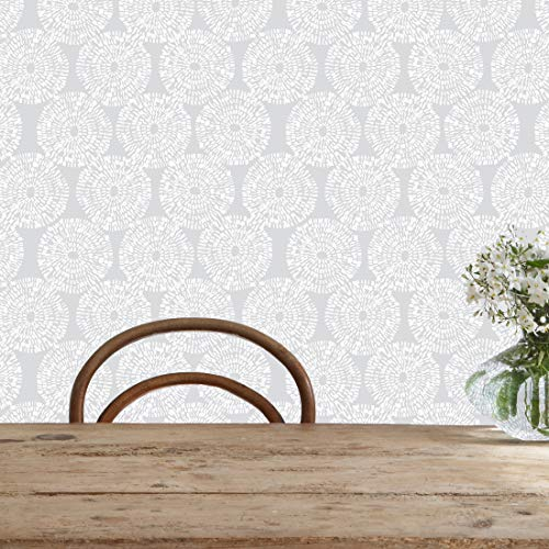 - Flipside Painted Gray Circles Removable Pre-Pasted Wallpaper - Each Roll is 18 ft. Long x 18 in. Wide - Safe for Walls - Easy to Apply & Extremely Easy to Remove