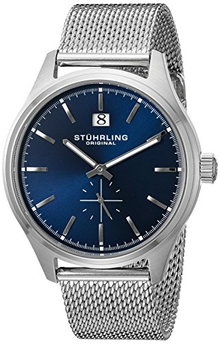 Stuhrling Original Men's 790.03 Symphony Silver-Tone Stainless Steel Watch