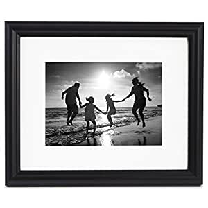 Amazon Com 8x10 Black Picture Frame Matted To Display