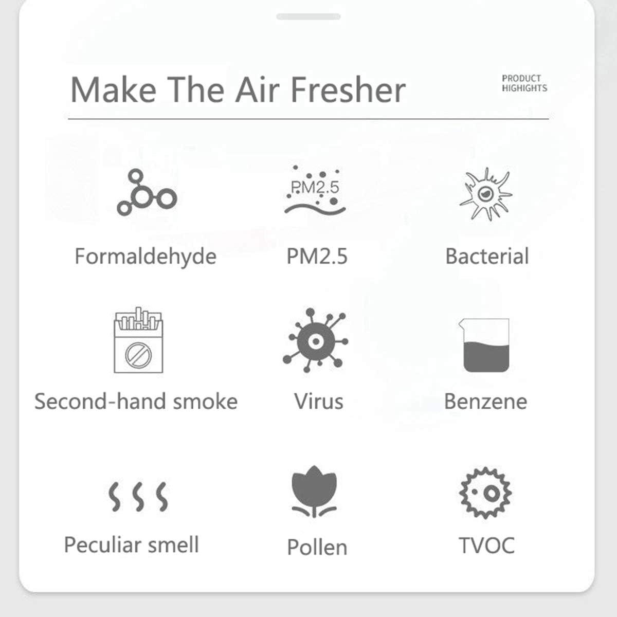 DYF El ozono M/áquina hogar formaldeh/ído de extracci/ón de Aire purificador de Alta Capacidad Generador de ozono Desinfecci/ón M/áquina para Salas para Fumadores y Mascotas Coches