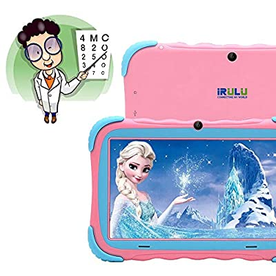 Kids Tablet - 7 inch Kids Edition Tablet with IPS Safety Eye Protection Screen, Android 7.1 WiFi, Camera, Games, Google Play Store, Bluetooth, and 1GB/16GB Storage iRULU Y57