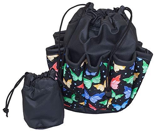ABS Novelties Butterfly Pattern 10 Pocket Tote Black