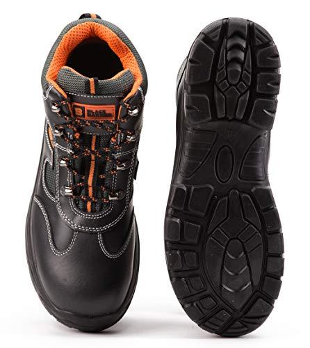 De Src Black Hommes Cuir Sécurité Pour Bottes Chevilles S3 Avec 6652 Acier Hammer Chaussures Embout En zErWAEwH1q