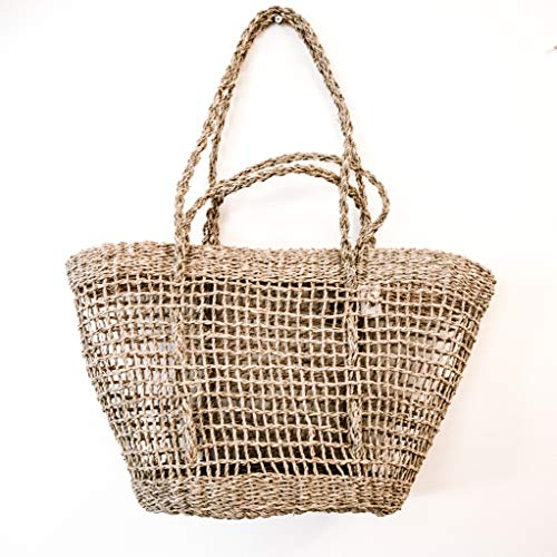 DUFMOD Open Weave Seagrass Carryall Tote Basket