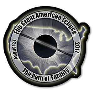 EC001 - USA - Great American Eclipse 2017 Sticker