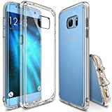 Ringke Fusion Case Compatible Galaxy S7 Edge Precisely Outfitted Ultimate Crystal PC Back Flexible Soft TPU Side Edge Bumper with Versatile Port-Caps [Drop Protection] Defensive Cover - Clear