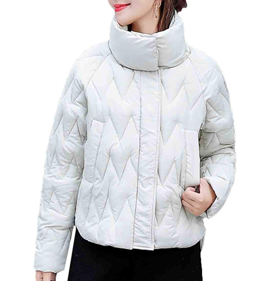 Beige Keaac Women's Coat Lightweight Puffer Down Jacket Packable Down Coats