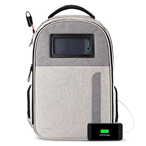 Lifepack Solar Powered and Anti-Theft Backpack with laptop storage by LIFEPACK