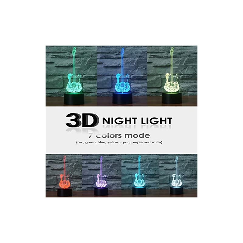 HeXie-LED-Night-Lights-3D-Illusion-Bedside-Table-Lamp-7-Colours-Changing-Sleeping-Lighting-with-Smart-Touch-Button-Warming-Present-Creative-Decoration-Ideal-Art-and-Crafts-Guitar