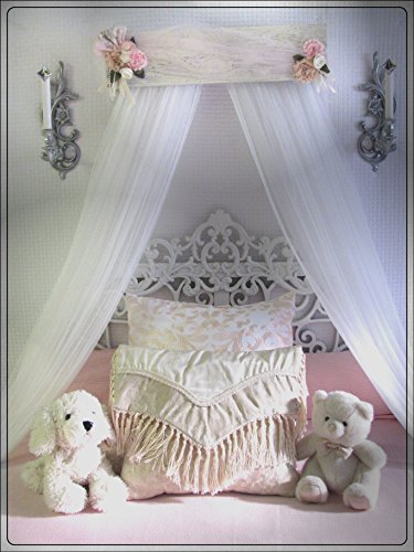 Victorian design Barn wood Shabby Chic Bed bedroom - Bed Canopy Wall Mount