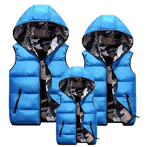 Chaqueta Abrigo Hombre De Chaleco Blau Ropa Tamaños Chaqueta Capucha De De con Paternidad Capucha HX Cómodos fashion Abrigo Abajo Chaquetas con De Camuflaje De Chaleco 4wRqTX