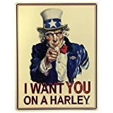 Uncle Sam I Want You Harley-Davidson® Sign